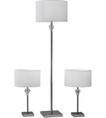 Crystal Metal Fabric Table Lamps