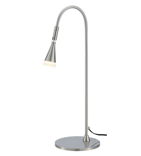 Adesso Pixie LED Desk Lamp 1 Light in Satin Steel 3014-22 photo