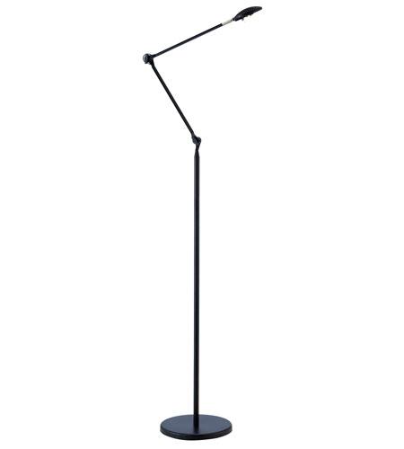 Adesso Shutter LED Floor Lamp 1 Light In Black 3017-01