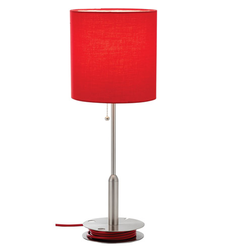 Adesso Bobbin 1 Light Table Lamp in Red 3022-08 photo