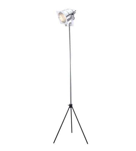 Adesso Spotlight 1 Light Floor Lamp in Steel 3051-22 photo