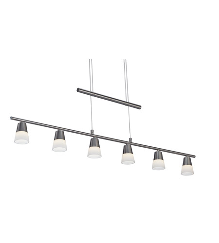 Adesso 3091-22 Aerial LED 39 inch Satin Steel Pendant Ceiling Light photo