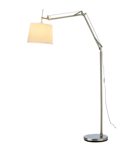 Adesso Architect Arc Lamp 1 Light in Satin Steel 3157-22 photo