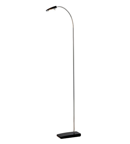 Adesso Swan 1 Light Led Floor Lamp in Black 3185-01 photo
