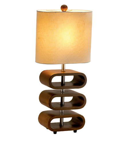 Adesso Rhythm 1 Light Floor Lamp in Walnut 3203-15 photo