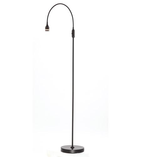 Adesso Prospect 1 Light LED Floor Lamp In Black 3219-01