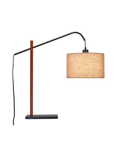 Adesso Bryce 1 Light Table Lamp in Light Walnut 3224-15 photo