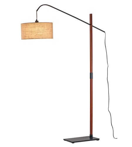 Adesso 3225-15 Bryce 65 inch 150 watt Walnut Floor Lamp Portable Light photo