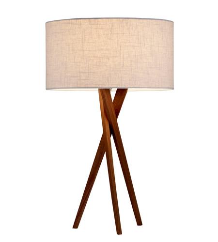 Adesso 3226 15 Brooklyn 30 Inch 100 Watt Light Walnut Table Lamp Portable Photo