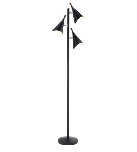 Adesso 3236-01 Draper 68 inch 60 watt Black Tree Lamp Portable Light photo
