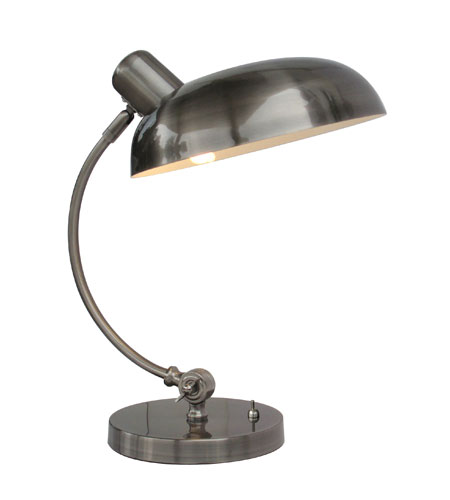 Adesso Relic 1 Light Desk Lamp in Antique Pewter 3239-23 photo