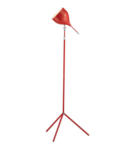 Adesso Snapshot Floor Lamp in Red 3281-08 photo