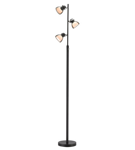 Adesso Perception LED Floor Lamp in Black 3287-01 photo