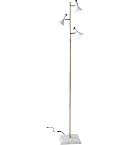 Antique White Floor Lamp