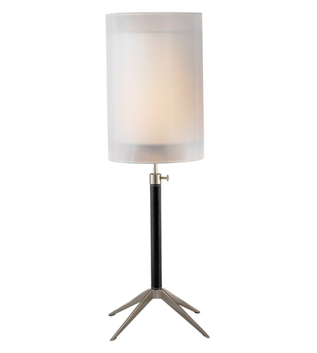 Adesso Santa Cruz 1 Light Table Lamp in Black/Steel 3310-01 photo