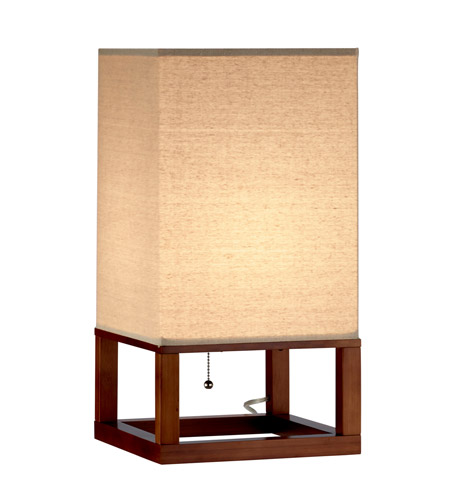 Adesso 3316-15 Crowley 20 inch 100 watt Light Walnut Table Lantern Portable Light photo