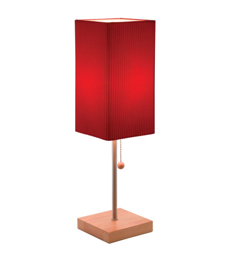 Adesso Angelina Table Lamp in Red 3327-08 photo