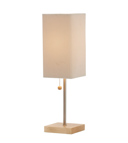 Adesso Angelina 1 Light Table Lamp in Natural 3327-12