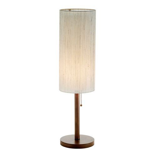 Adesso Hamptons 1 Light Table Lamp in Walnut 3337-15 photo
