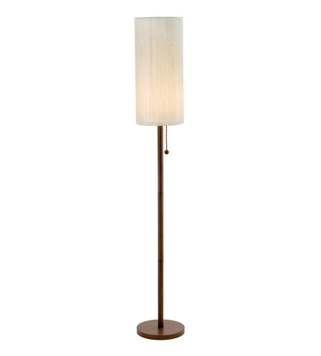 15 hamptons 65 inch 100 watt walnut floor lamp portable light photo. Black Bedroom Furniture Sets. Home Design Ideas