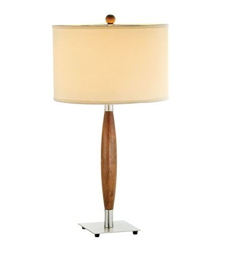 Adesso Hudson 1 Light Table Lamp in Dark Maple 3340-13 photo