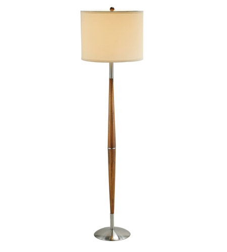 Adesso 3341-13 Hudson 65 inch 150 watt Dark Maple Floor Lamp Portable Light photo