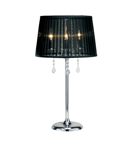 Adesso Cabaret 3 Light Table Lamp In Chrome 3356 22 Photo