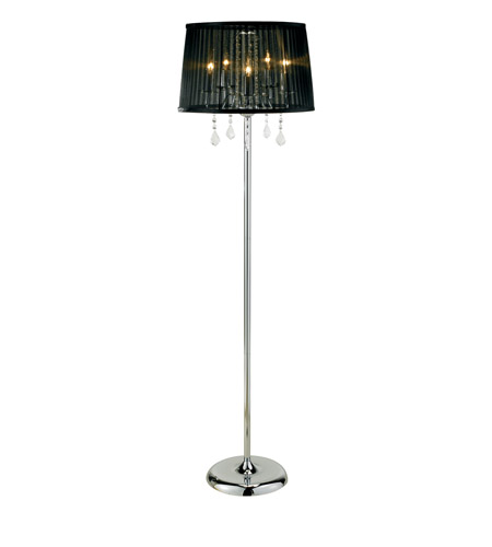 Adesso Cabaret 5 Light Floor Lamp in Chrome 3357-22 photo