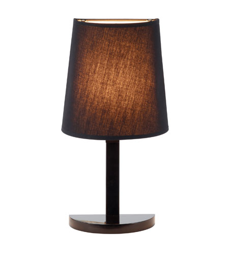 Adesso Demi 1 Light Table Lamp in Black 3380-01 photo