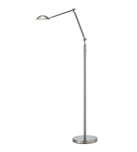 Adesso Stanford LED Floor Lamp 1 Light in Satin Steel 3397-22 photo