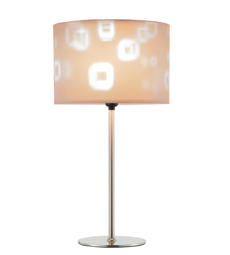 Adesso Mystic Table Lamp in Satin Steel 3453-22 photo