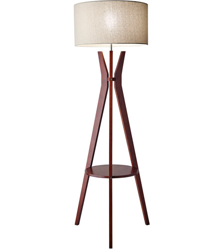 Floor Lamp In Solid Walnut Wood 3471 15