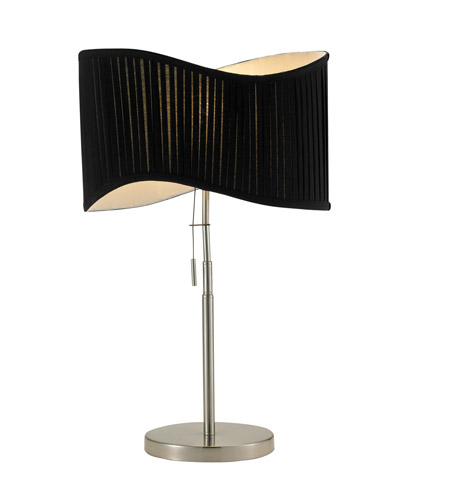Adesso Symphony 1 Light Table Lamp in Satin Steel 3605-22 photo