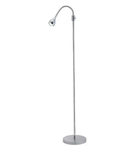 Adesso Iris 3 Light Gooseneck Floor Lamp in Steel/Chrome 3621-22 photo