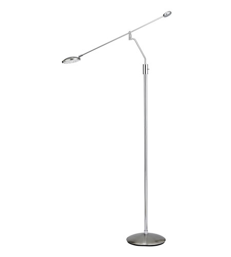 Adesso Trapeze 90 Light Balance Arm Floor Lamp in Satin Steel/Chrome 3627-22 photo