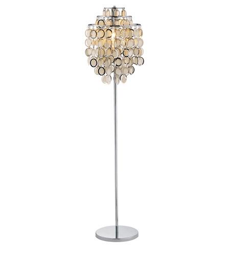 Adesso Shimmy 1 Light Floor Lamp in Chrome 3637-22 photo