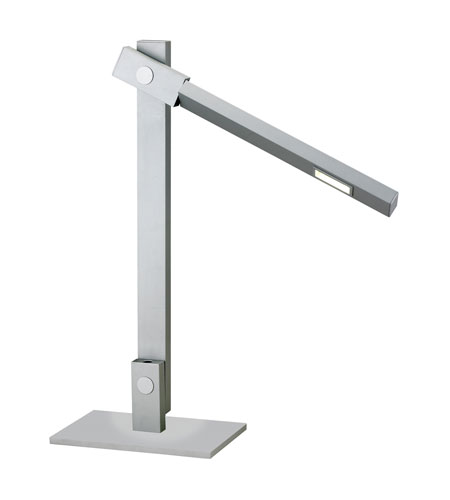 Adesso Reach 1 Light Led Desk Lamp in Steel 3653-22 photo