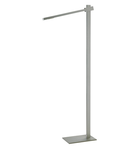 Adesso Reach 1 Light Led Floor Lamp in Steel 3654-22 photo