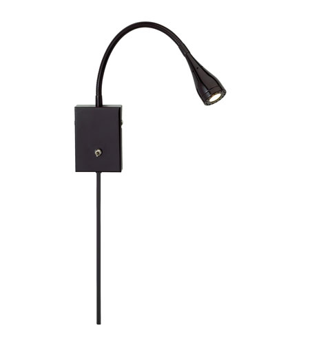 Adesso Seek 1 Light Wall Light in Black 3661-01 photo