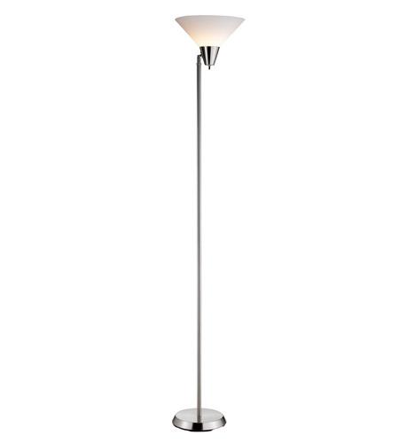 Adesso Swivel 1 Light Floor Lamp In Steel 3677-22