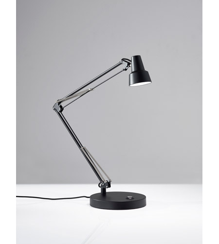 Adesso 3780-01 Quest Desk Lamp Portable Light in Black photo