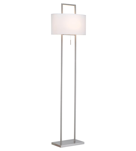 Adesso Sullivan 1 Light Floor Lamp in Satin Steel 3827-22 photo