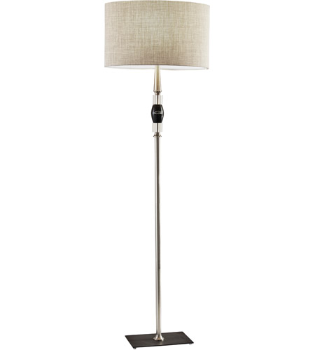 Adesso Brushed Steel Fabric Floor Lamps