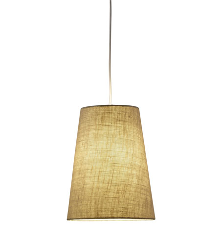 Adesso 4000-18 Harvest 1 Light 11 inch Burlap Cone Pendant Ceiling Light photo