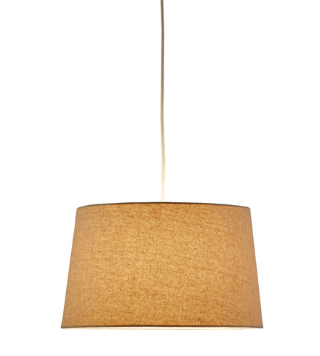 Adesso Harvest 1 Light Tapered Drum Pendant in Flax 4002-16 photo
