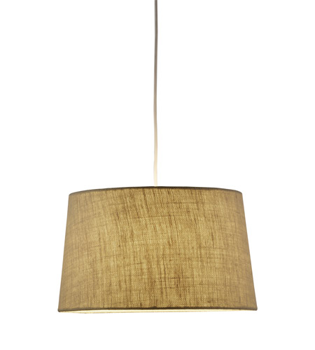 Adesso Harvest 1 Light Tapered Drum Pendant in Burlap 4002-18 photo