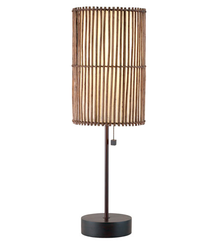 Adesso Maui 1 Light Table Lamp in Antique Bronze 4024-26 photo