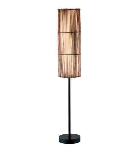 Adesso Maui 2 Light Floor Lamp in Antique Bronze 4025-26 photo