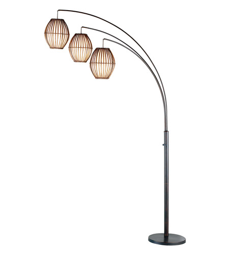 Adesso 4026-26 Maui 77 inch 60 watt Antique Bronze Arc Lamp Portable Light photo
