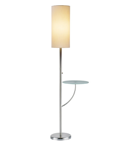 Adesso Concierge 1 Light Floor Lamp in Satin Steel 4033-22 photo